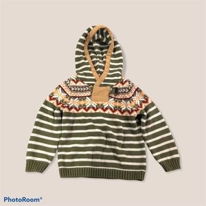 SKIR BOY KNIT SWEATER WITH HOODY
